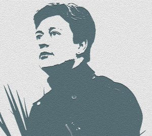 Rachel Dax stencil image