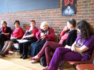 All Dames Together: Nicola, Eileen, Carol, Joan, Charile, Leigh
