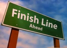 finish line ahead