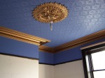 My front room now has a blue and gold ceiling -- this is more cheering than the 2015 Hugo Awards