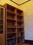 My study -- before I'd filled the big bookcase with reference books
