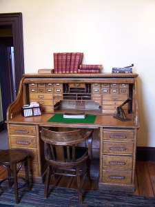 Mill manager's desk