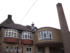 Original Main School Building with 1960s extension
