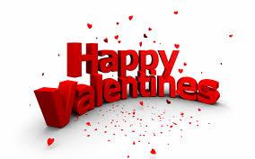 V day valentines banner
