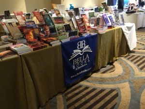 Bella Books table! They're selling for Bella, but also other publishers.