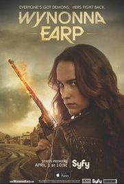 Wynonna Earp (played by actress Melanie Scrofano)