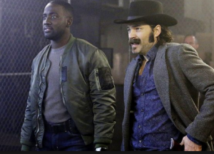 Doc (right; portrayed by actor Tim Rozon) and Dolls (portrayed by actor Shamier Anderson) source