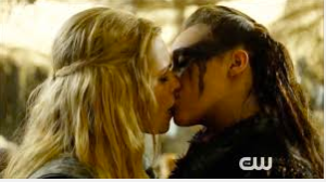Clarke and Lexa (Clexa) going canon in The 100.