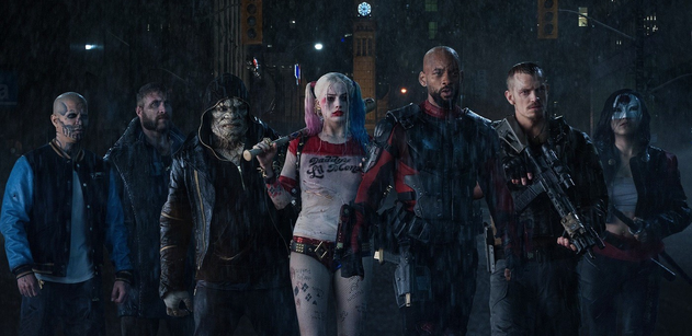Suicide Squad, movie, 2016. Members, from left: Diablo, Boomerang, Killer Croc, Harley Quinn, Deadshot, Col. Rick Flag, Katana