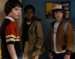 Geek squad from Stranger Things. Mike, Lucas, Dustin (from left) source