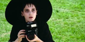 Ryder as Beetlejuice's Lydia Deetz, the adolescent tortured goth girl I totes crushed on.
