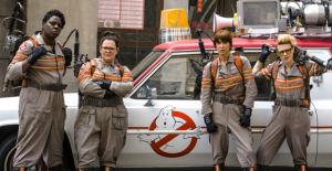 Gratuitous photo of Ghostbusters. Because Ghostbusters. From left: Patty, Abby, Erin, Jillian