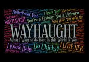 The WayHaught word bubble, friends, that you can get as a sticker or on a shirt. source