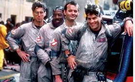 Original Ghostbusters. From left: Egon (the late Harold Ramis); Winston (Ernie Hudson); Venkman (Bill Murray); Raymond (Dan Akroyd)