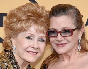 Debbie Reynolds and Carrie Fisher, 2015 (source)