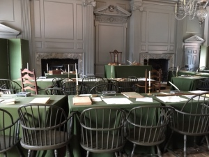 The Assembly Room in Independence Hall, Philadelphia (photo by Andi Marquette, Jan. 2017)