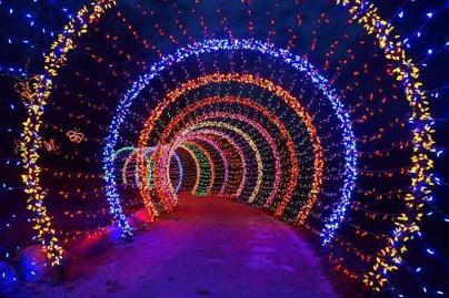 holiday-lights-tunnel