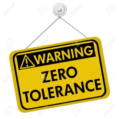 25083560-zero-tolerance-warning-sign-a-yellow-and-black-sign-with-the-words-zero-tolerance-isolated-on-a-whit